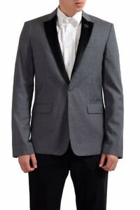 C-039-N-039-C-National-Collection-Wool-Gray-One-Button-Men-039-s-Blazer-US-38-IT-48