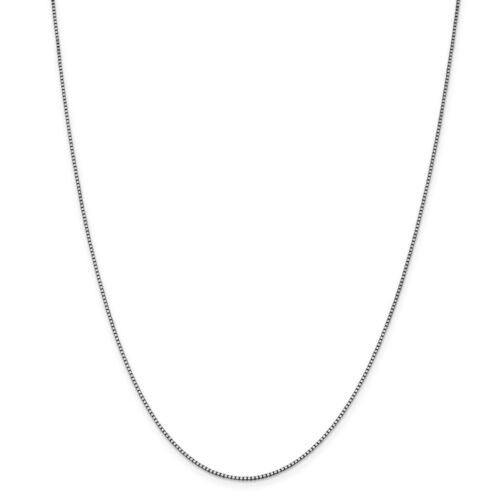 Details about  /Real 14kt Solid White Gold 1.05mm Box Chain; 16 inch Lobster Clasp