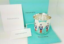 1956 Tiffany & Co. Maker Sterling Silver 3 Enamel Nutcracker Soldier Baby Cup