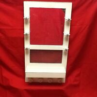 Handmade Wooden Jewelry Rack Well Made With Mirror