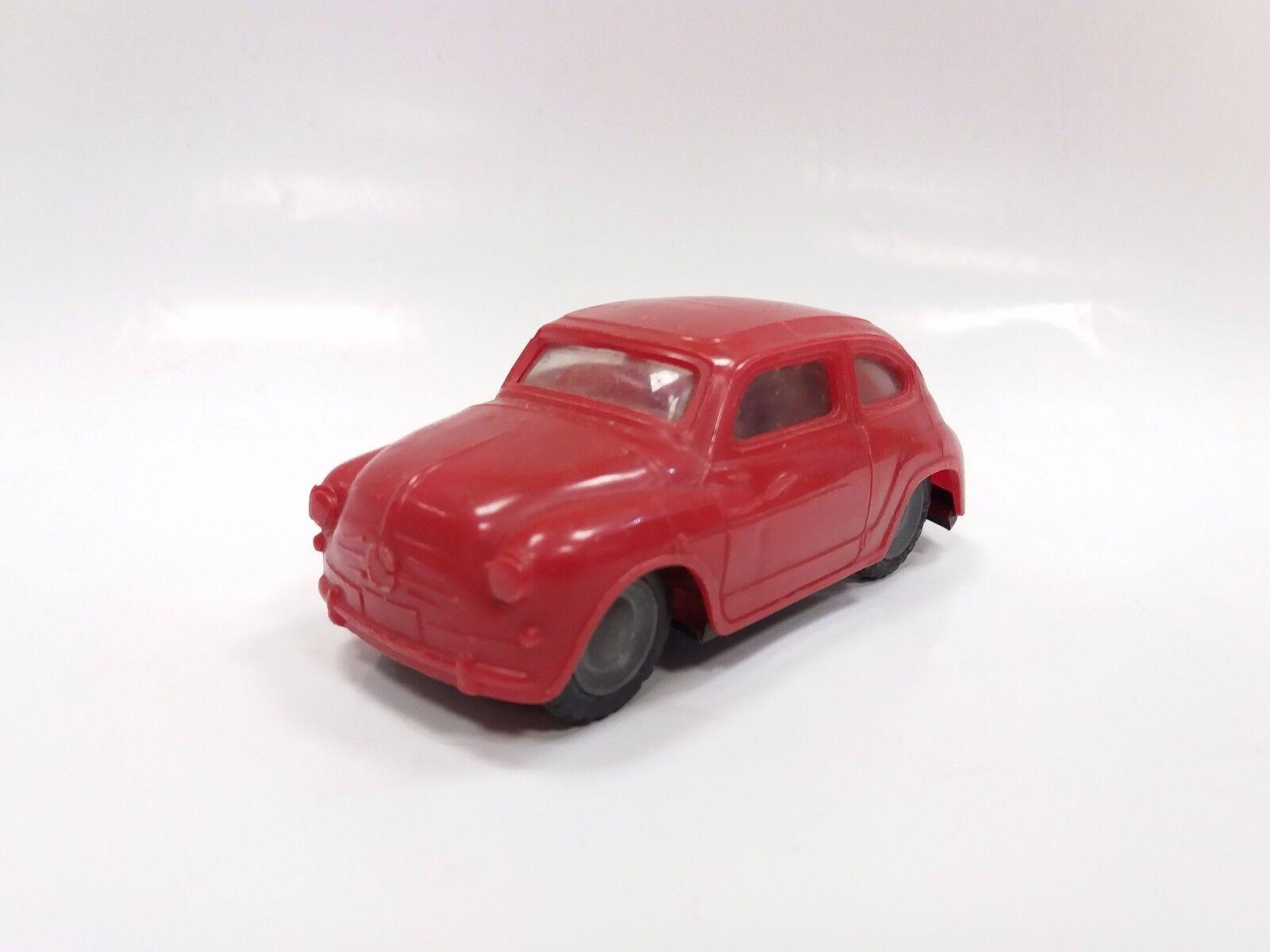 Vintage Fiat 600 Lendulet Lemezarugyari Tin & Plastic Friction Toy Car