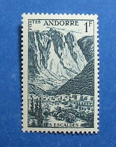 Frank 1955 Andorra French 1 Fr Scott# 124 Michel # 142 Unused Nh Cs28091 Europe