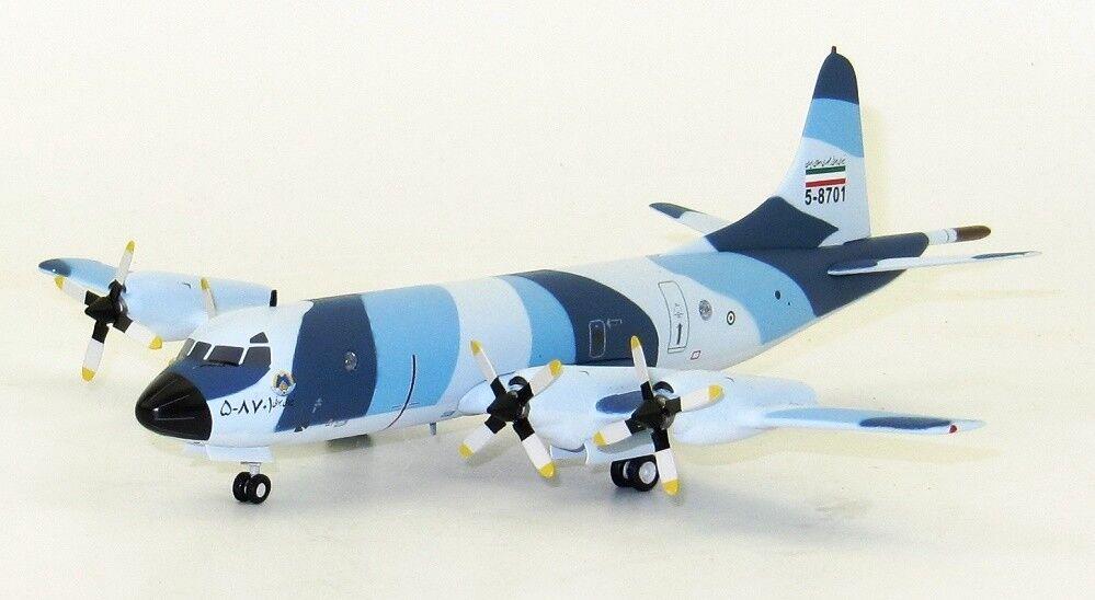 Inflight 200 IFP3IAF001 1 200 de la Fuerza Aérea de Irán Lockheed P-3F Orion 5-8701 con Soporte