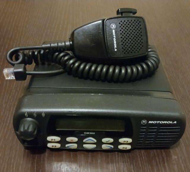 255 Channel Motorola GP380 VHF 136-174 Mhz 5W 2Way Radio Accessories