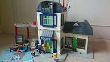 Playmobil 3988 gran casa de estación de policía con células helipuerto &