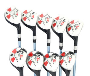Alto-173cm-de-Mujer-Majek-Golf-Mujer-Juego-Hibrido-3-SW-Dama-034-L-034-Flex-Clubs