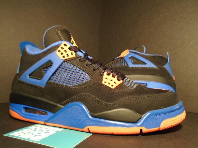 Nike Air Jordan IV 4 Retro CAVS LAST SHOT BLACK CEMENT GREY ORANGE BLUE WHITE 8