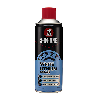3 in One Long Lasting White Lithuim Grease 400ml Lubricant WD-40 44620/03