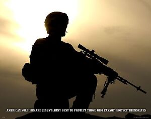 US Military Motivational Poster Art Marines Army Navy Sniper Religious MILT54