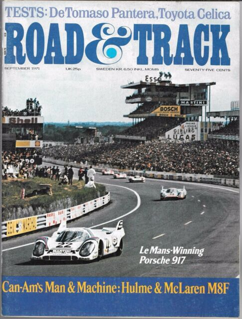ROAD & TRACK MAGAZINE VOL. 23 #1 SEPTEMBER 1971 (VG) CAN-AM'S MAN AND MACHINE