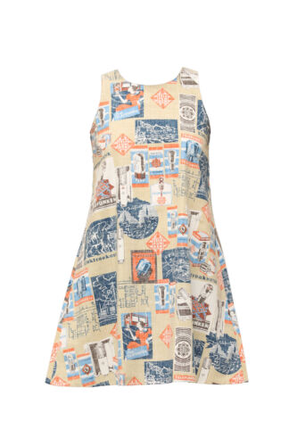 TELEFUNKEN Aloha Girl/'s Dress by Reyn Spooner TAN