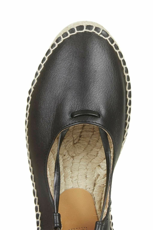 TOPSHOP FLATS LEATHER ESPADRILLES Schuhe FLATS TOPSHOP SIZE UK 7 8 a0ef19