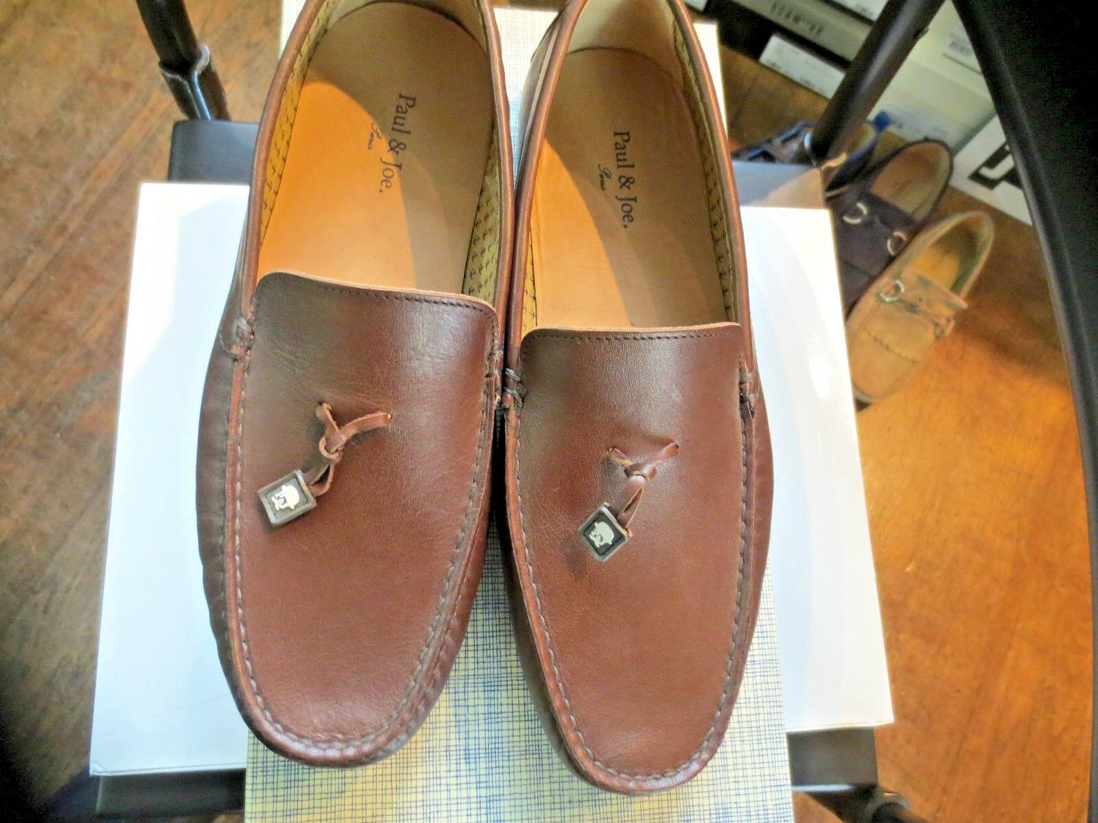 Paul & Joe mocassin Clinton veau marron NEUF Valeur 170E Pointures ,44,45.