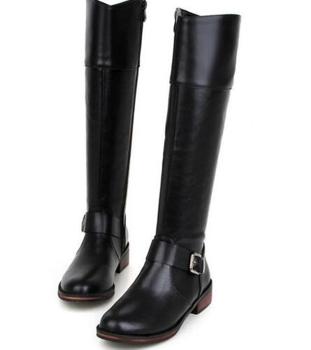 Ladies Knee Knee Boots Pointed Zipper Boots Clubwear Block Wine Leather Shoes