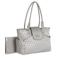 Carter's Jaquard Metallic Diaper Bag Tote - Silver