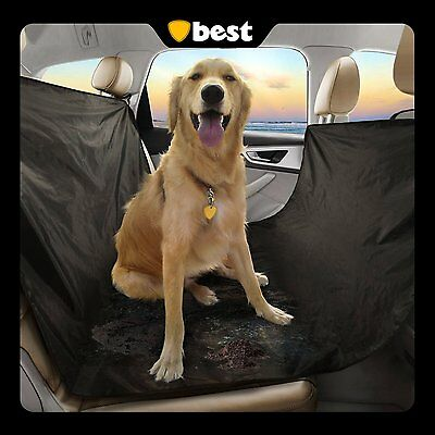 Best Dog Seat Cover (100% WATERPROOF) Perfect Backseat Hammock for All Pets