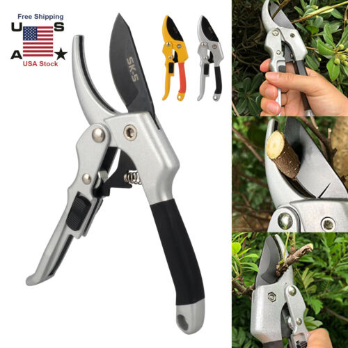 Garden Pruning Shears /& Snips Hand Pruner Ratchet Scissors Branch Cutter Trimmer