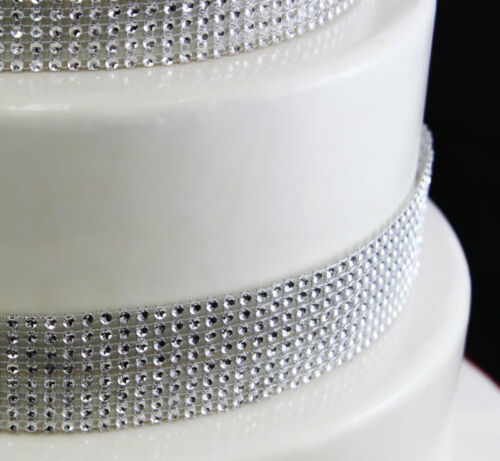 1 rang argent strass bling diamant mousseux effet gâteau Ruban de Craft