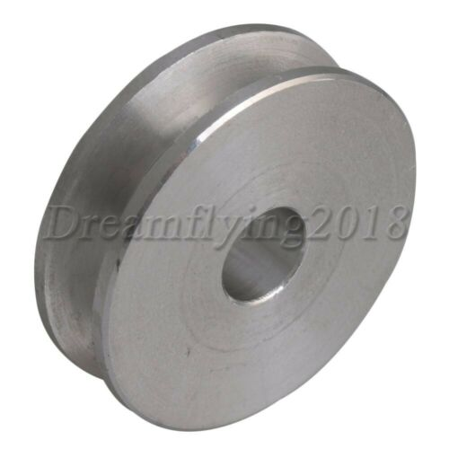 Metal 8mm-Dia Bore V-Groove Drive Belt Step Pulley Aluminum for 3-5mm Belt