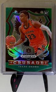 Isaac Okoro 2020-21 Panini Prizm Draft Picks Green Crusade  RC #84 Cavaliers