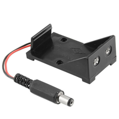 2PCS New 9V Battery Holder Box Case Wire Plug 5.5*2.1mm for Arduino ODZ2L8Y