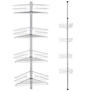 4-Tier-Metal-Shower-Corner-Pole-Caddy-Shelf-Rack-Bathroom-Bath-Storage-Organizer