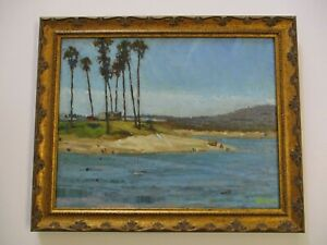 KEVIN YUEN OIL PAINTING HISTORIC VIEW SAN DIEGO CALIFORNIA LANDSCAPE MISSION BAY