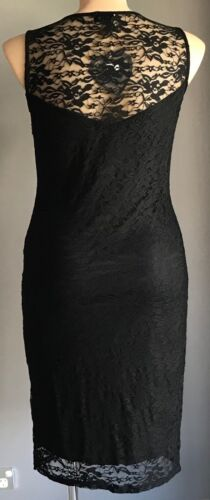 CLUB L Black Floral Lace Sleeveless Bodycon Dress Plus Sizes Plus Size 20-24