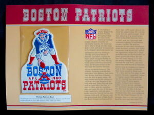 BOSTON-PATRIOTS-Willabee-Ward-NFL-GOLDEN-AGE-Pre-New-England-FOOTBALL-PATCH-CARD