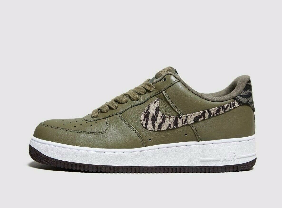 Nike Air Force 1 ® ( Men Size ) Trooper Cargo Green Tiger Camo