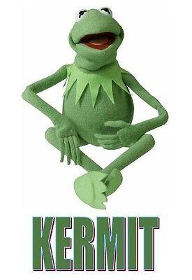 Muppets Kermit T shirt Iron on Transfer 8x10- 5x6 -3x3 light fabric