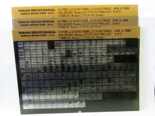 Yamaha XV700 XV1000 XV750 XV1100 1984-1988 Service Manual Microfiche y246