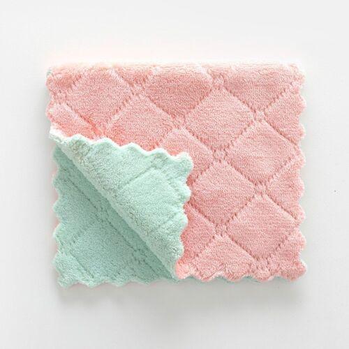 5PCS super absorbant en microfibre cuisine lavettes lavage nettoyage serviette