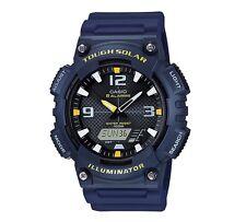 Casio Watch * AQS810W-2AV Tough Solar Illuminator Anadigi Blue Yellow