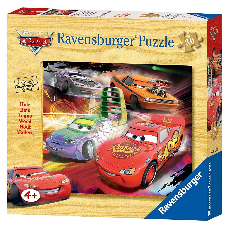 Ravensburger Puzzle in legno Bambino Lightning Mc Queen VINCITORE 30 PZ