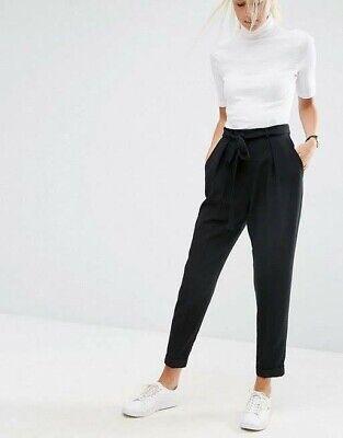 ex Miss Selfridge Black Vinyl Steffi High Waist Pants Trousers