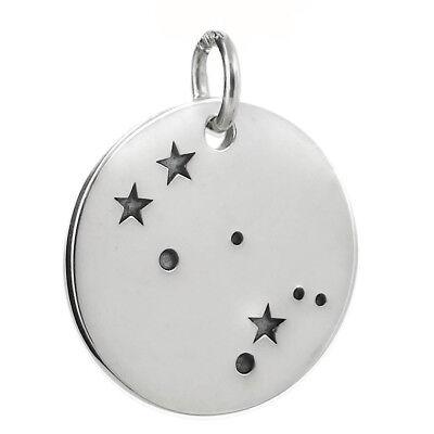 925 Sterling Silver Virgo Charm Stars Pendant Zodiac Constellation NEW