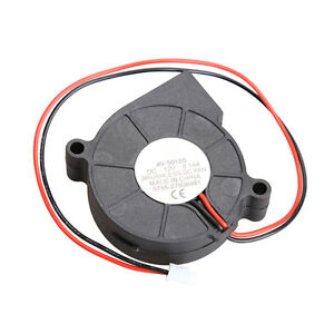 New-Brushless-DC-Cooling-Blower-Fan-2-Wires-5015S-12V-0-14A-50x15mm-Color-Black