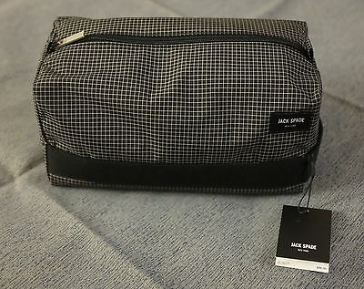 ca57877743 Jack Spade Packable Graph Check Toiletry Kit Bag Black Dopp NWT Light    Strong