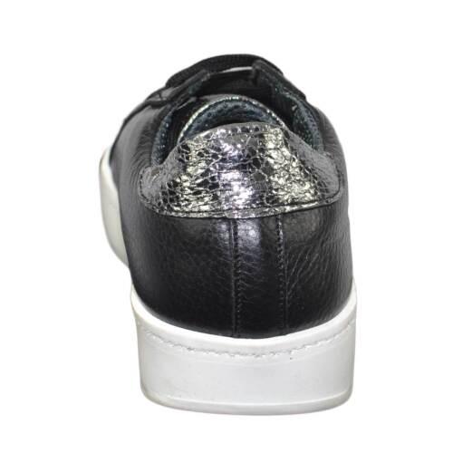 Donna Bottolato In Italy Sportivo Sneakers Vera E Scarpe Nero Pelle Ginnico Made 51xzZwTRq7