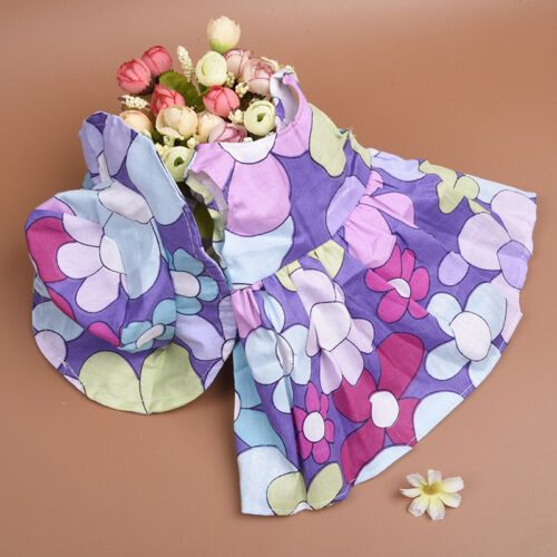 Handmade Fashion Doll Summer Dress /& Hat Clothes for 18 inch Doll Wear Gifts