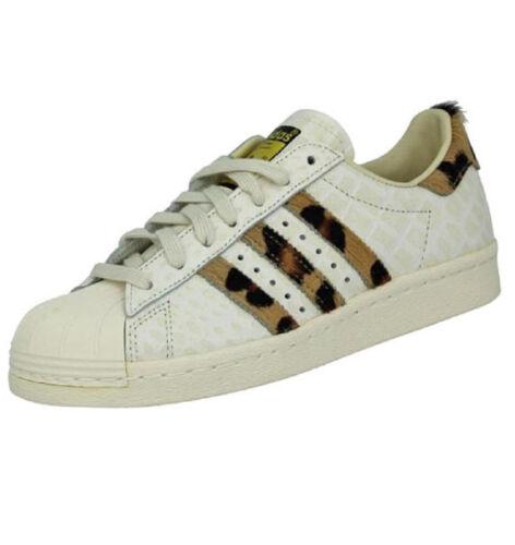 scarpe da donna scarpe adidas superstar degli anni '80 s78955 animale originali.