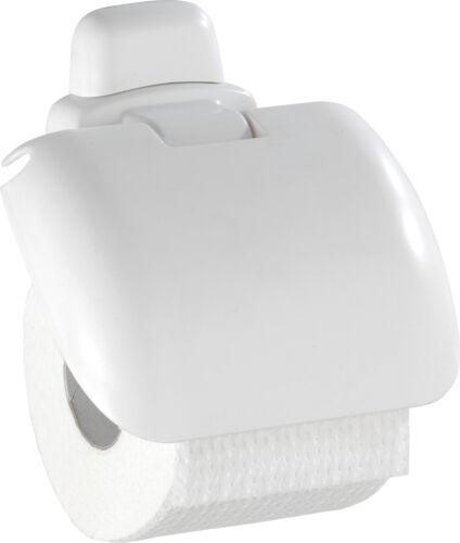 WENKO Papierrollenhalter Pure Weiß Rollenhalter Klopapier Klopapierhalter WC Klo