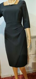 NEW-L-K-BENNETT-WIGGLE-DRESS-SIZE-UK-10-US-6-BLACK-97-POLYESTER-3-ELASTANE