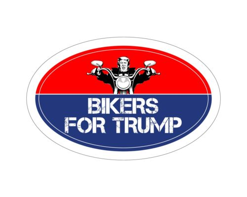 *Oval Car Magnet* Trump 2020 Bikers For Trump TO404