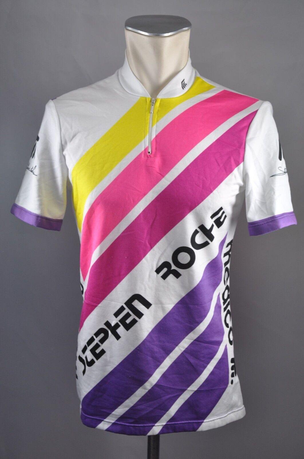 Medico Stephen Roche vintage jersey cycling jersey Bike Rad Trikot Gr. M 50cm J