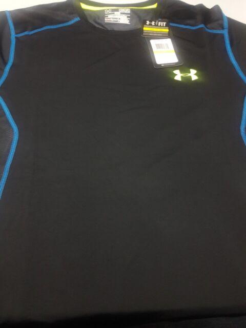 New Men/'s Under Armour Compression HeatGear Gym Shirt S,M,L,XL,2XL Bagged New