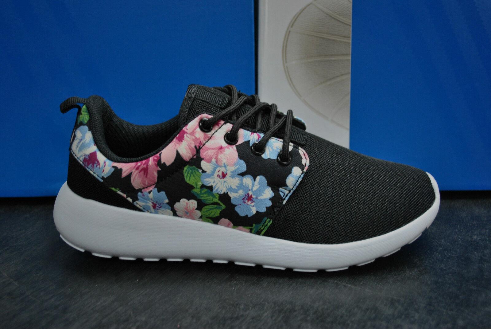 Ladies Girls Flower Sports Trainers Chaussures Running Gym Roshe Walking Fitness Run