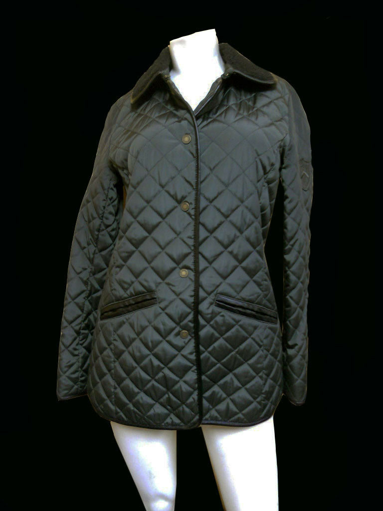 NWT ladies RALPH LAUREN QUILTED GREEN PUFFER Coat - XS