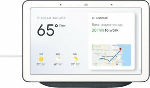 Google-Home-Hub-with-Google-Assistant-Chalk-Gray-or-Charcoal-Black-NEW-SEALED